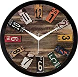 #7: IT2M 11.75 inch Wall Clock - Vintage French Design (9085)