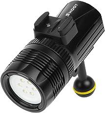 IPOTCH Torcia Subacquea Di Immersione Subacquea Della Luce LED Di Fotografia Subacquea Di 60 Tester Per GoPro