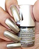 DeBelle Gel Nail Lacquer Rustique Gold 8 ml -(Metallic Rust Gold Nail Polish)