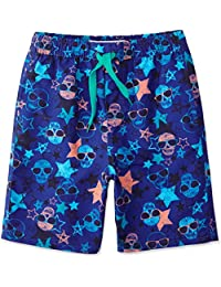 31e08889 RED WAGON Boy's Aop Skull Border Swim Shorts