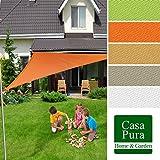 Voile d'ombrage casa pura triangulaire en coloris divers | matière imperméable - lavable en machine | taille 5x5x7m | densité 160g par m² | sable