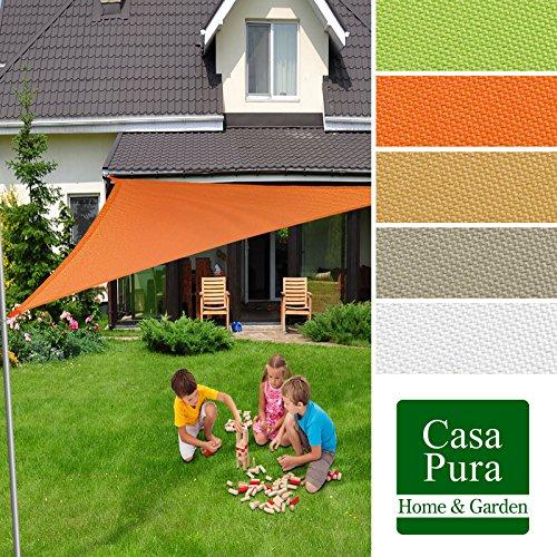 Voile d'ombrage casa pura® triangulaire en coloris divers | matière imperméable - lavable en machine | taille 5x5x7m | densité 160g par m² | sable