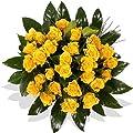Blumenstrauß Blumenversand 15 gelbe Rosen Rosenstrauß +Gratis Grußkarte+Wunschtermin+Frischhaltemittel+Geschenkverpackung