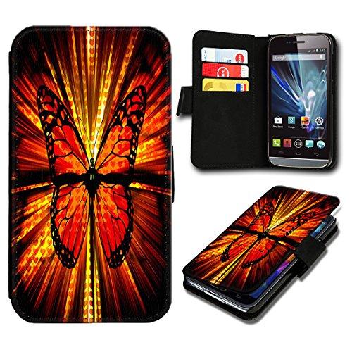 Book Style Wiko Fizz Premium PU-Leder Tasche Flip Brieftasche Handy Hülle mit Kartenfächer für Wiko Fizz - Design Flip SB505