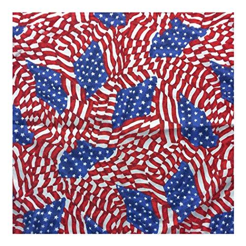 Bandana.com Halstuch mit USA-Flagge - mehrfarbig - Ein Dutzend (12 Stücke)