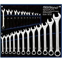 Schraubenschlüssel ✔ Chromvanadium ✔ 25tlg.✔Tasche Werkzeug Set 6-32mm - Setauswahl - Ring Maulschlüssel Ringschlüssel Maulringschlüssel Ringschlüssel Schrauben Schlüssel