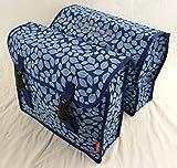 New Looxs Fiori Camero Fahrrad Tasche Laef blue blau Doppel Fahrradtasche Gepäcktasche OEM