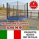 FP-TECH- Trampolino Elastico, 305cm-10FT, FP-10FT