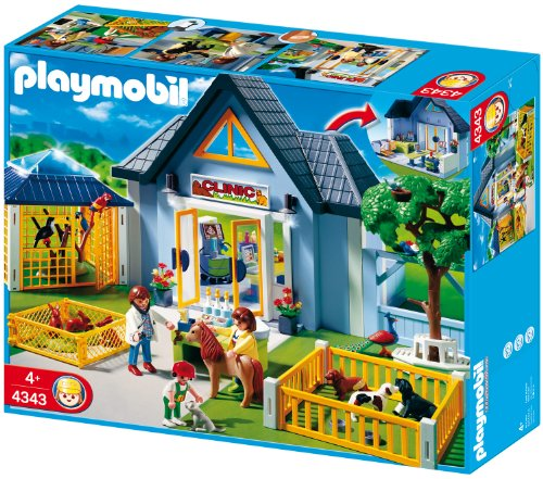 Playmobil - Clínica veterinaria, set de juego (4343)