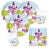 36-teiliges Party-Set Einhorn - Unicorn - Teller Becher Servietten für 8 Kinder