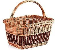 Garronda Wicker Shopping Basket ZAK_ZD (15.75 in x 11.81 in x 9.06 in)