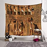 MiaoFan Antiken ägyptischen Wandbild gedruckt Tapisserie Muster Wandbehang Startseite Bett Yoga Matte Blatt Tischdecke Strand Decke Wand Tagesdecke GT-233 (Color : 9, Size : 130 * 150)