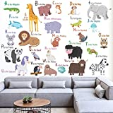 #4: StickMe 'Animal Alphabets Wall Sticker' - SM 405 ( PVC Vinyl - 100cm X 100 cm )