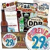 Forever 29 + | Geschenk Idee Männer | Geschenkideen | Forever 29 + | INKL. Markenbuch | Männer Set | Geschenk Ehemann 30. Geburtstag | mit Held der Arbeit Flaschenöffner, Bier, Schnaps und mehr