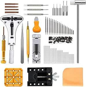 Viccess 210pcs Kit de Réparation de Montre,Montres Kit Professional Outil de Réparation Montre Kit pour Débutants Professionnels Horlogers Collecteurs