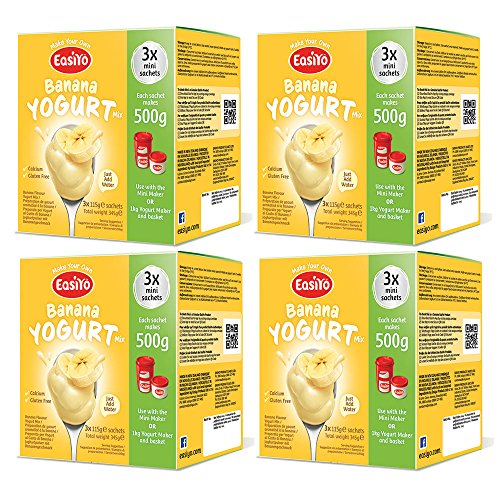 EasiYo Banana 4 x 3 Sachet Boxes - (12 Sachets