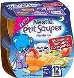 Nestlé Bébé P'tit Souper Macaroni Tomates Courgettes dès 12 mois 2 x 200g - Lot de 8