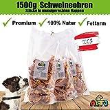 Alto-Petfood - 1500g getrocknete Schweineohren Stücke für Kleine Hunde und...