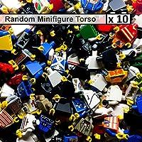 LEGO 10 x Random Assortment Minifigure Torso Bulk Lot Body Arms Hands