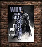 Empire Merchandising Sticker Mural avec Citation Batman DC Comics Superhéros Arkham Knight Contemporain A2 17x23 inches