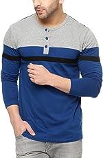 GRITSTONES Men's Cotton Stylish Full Sleeve Henley T-Shirt