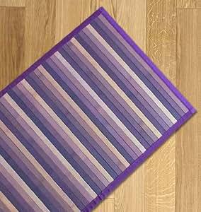 Tappeto bamboo sfumato cucina e multiuso 55x140 viola - Tappeto cucina bamboo ...