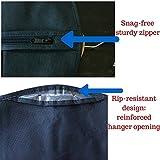 2 Schwarz Kleidersack Cherbell Polyester Kleiderhülle Kleiderschutz Aufbewahrung 120 × 60 cm - 4