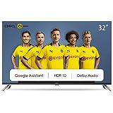 CHiQ L32H7A, 32 Pouces(80cm), Android 9.0, Smart TV, HD, WiFi, Bluetooth,Google Assistant, Netflix, Prime Video,2 HDMI, USB