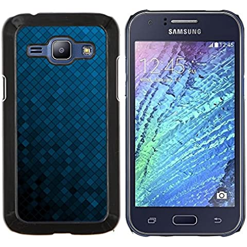 For Samsung Galaxy J1 J100 Case , Struttura blu Cubi - Design Pattern Duro Staccabile Stile Telefono Cellulare Nuovo Caso Cover Guscio Duro
