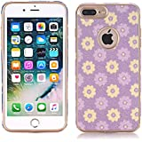 iPhone 7 Case, elecfan Flower Pattern Soft Cover Shell Phone Skin Super Slim screen Protective Smart Case for Apple iPhone 7 4.7 inch iPhone 7 Plus A07