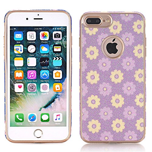 Galleria fotografica iPhone 7Case, elecfan Flower Pattern Soft Cover Shell Phone Skin Super Slim Screen Protective Smart Case for Apple Iphone 74.7inch