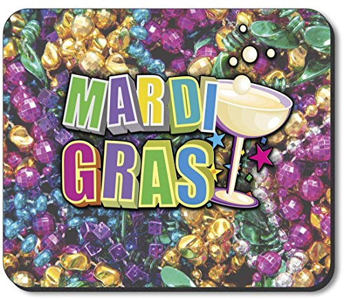 Mouse Pad - Mardi Gras Beads