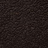 Lammfell (dunkelbraun) dichtes, wärmendes Fellimitat - leicht elastisch, Innenfutter, Futterstoff - Meterware