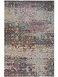 Benuta Teppich Vintage Frencie - Oeko-Tex Standard 100-Siegel - 50% Baumwolle,49% Polyester,1% Rutschfester Schaum - Vintage/Patchwork - Flachgewebt - Wohnzimmer