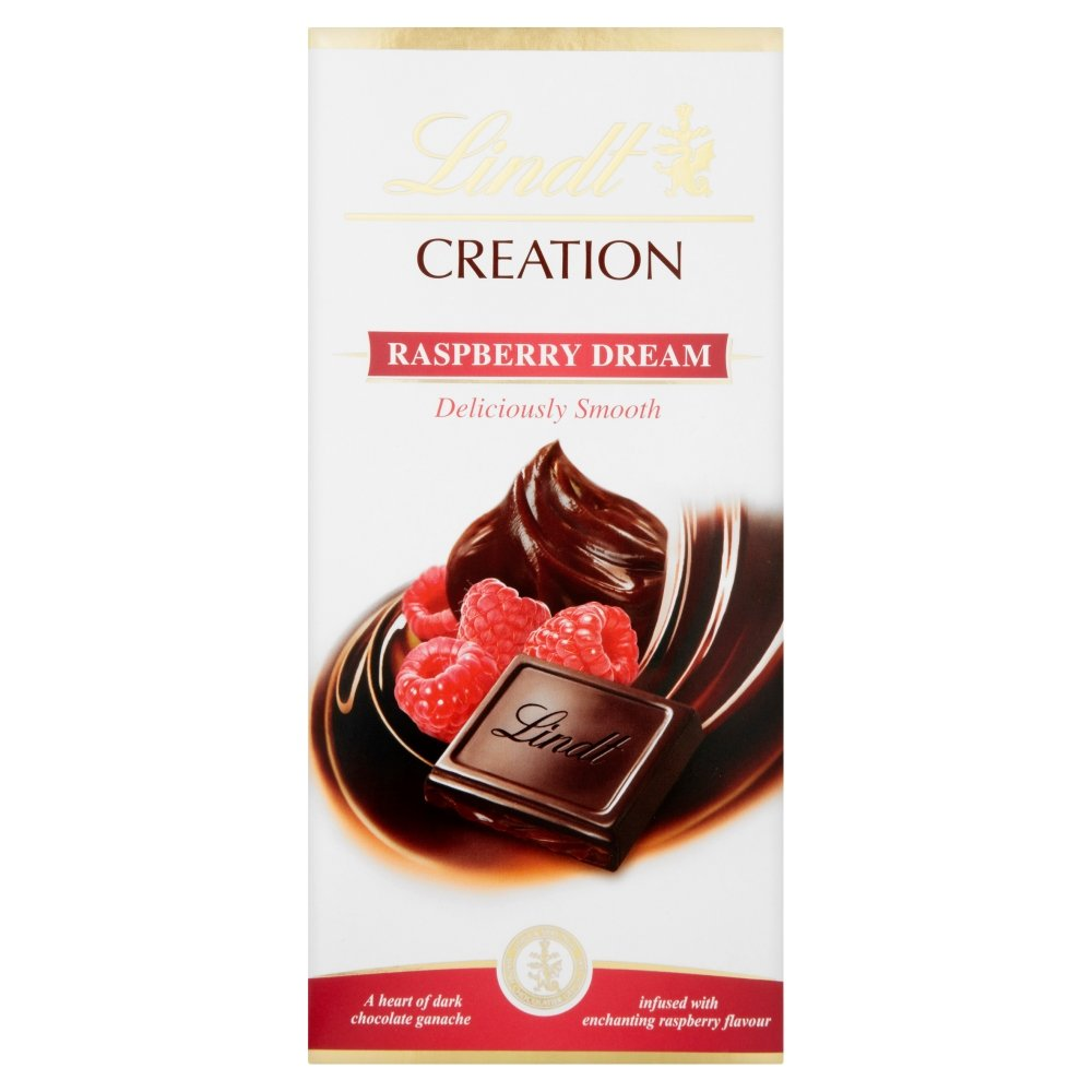 Lindt Creation Raspberry Dream Dark Chocolate Bar 150 g (Pack of ...