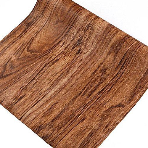 Legno di noce grano Contact Paper self adhesive Shelf Liner ...