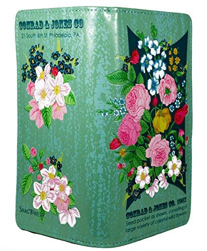 Shagwear portafoglio per giovani donne , Large Purse : Diversi colori e design : pacchetto di semi turchese chiaro/ Seed packet
