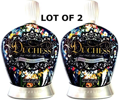Designer Skin Tanning Bed Lotion (LOT of 2 Designer Skin Duchess 8x Bronzer Indoor Tanning Bed Lotion by Millennium Tanning Products)