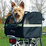 Trixie Fahrrad Tasche für den Hund (35 × 28 × 29 cm) (Schwarz)