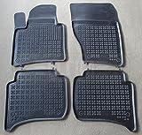ZentimeX Z938705 Schalenmatten fahrzeugspezifisch mit Anti-Rutsch-Noppen (Durchmesser circa 18mm) schwarz