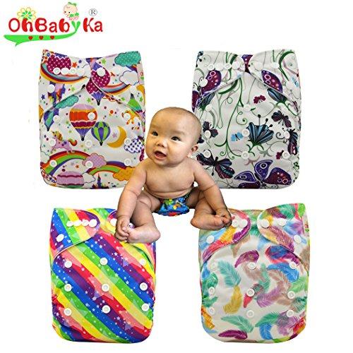 Preisvergleich Produktbild ohbabyka Wiederverwendbare Unisex Baby Tuch Pocket Windeln All in One mit 1weichen Tuch inneren