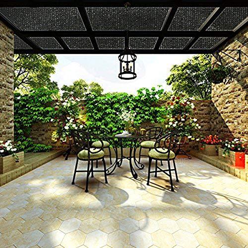 40%-50% Schattiergewebe Schattiernetz, Sonnen Schirm Kante mit Ösen Enthalten, idealer Schattenspender z.B. für Gewächshäuser, KFZ-Stellplätze 2 x 2m
