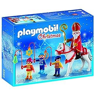 PLAYMOBIL – Christmas San Martín con Niños Playsets de Figuras de jugete (5593)