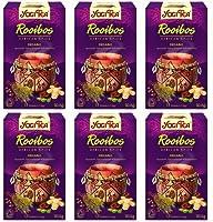 Lot de 6 sachets de thé Yogi- Thé - Rooibos African Spice - 17 sachets - Lot de 6