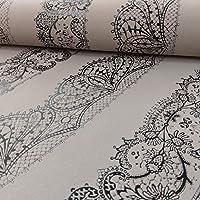 P & S International Catherine Lansfield Encaje Patrón de rayas papel pintado diseño de adornos