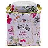 English Tea Shop English Breakfast Tea 85g (Flower Tin Pink)