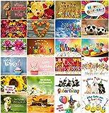 Geburtstagskarten : 24-er Postkarten Set mit Herz & Humor -