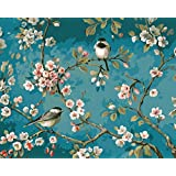 Paint By Number Diy Oil Painting Home Decor Wall Pic Value Gift-Like Birds In The Branches 16x20 Inch