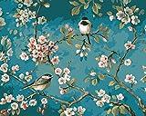 [Holzrahmen] DIY ölgemälde, Malen nach Zahlen Kits- Wie Vögel In Den Zweigen 16x20 inch