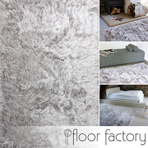 Alfombra de Pelo Largo Prestige gris argentado 120x170 cm - alfombra blanda extra larga